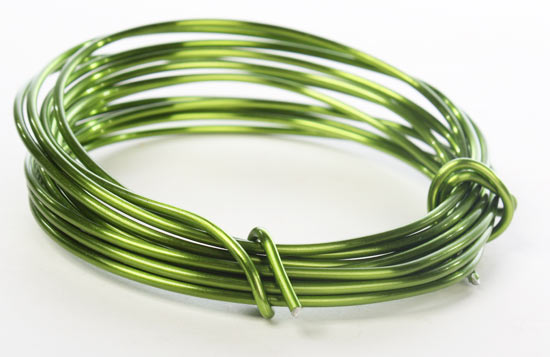 Green aluminum craft wire wire rope string basic for 12 gauge aluminum craft wire