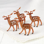 Miniature Plastic Deer Ornaments