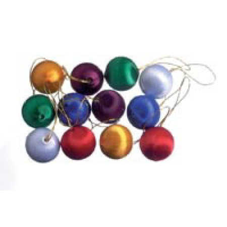 Assorted Miniature Satin Ball Ornaments - Christmas Ornaments ...