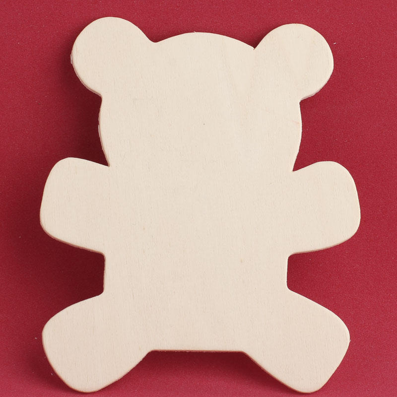 Unfinished wood teddy bear cutout wood cutouts for Wood cutouts for crafts