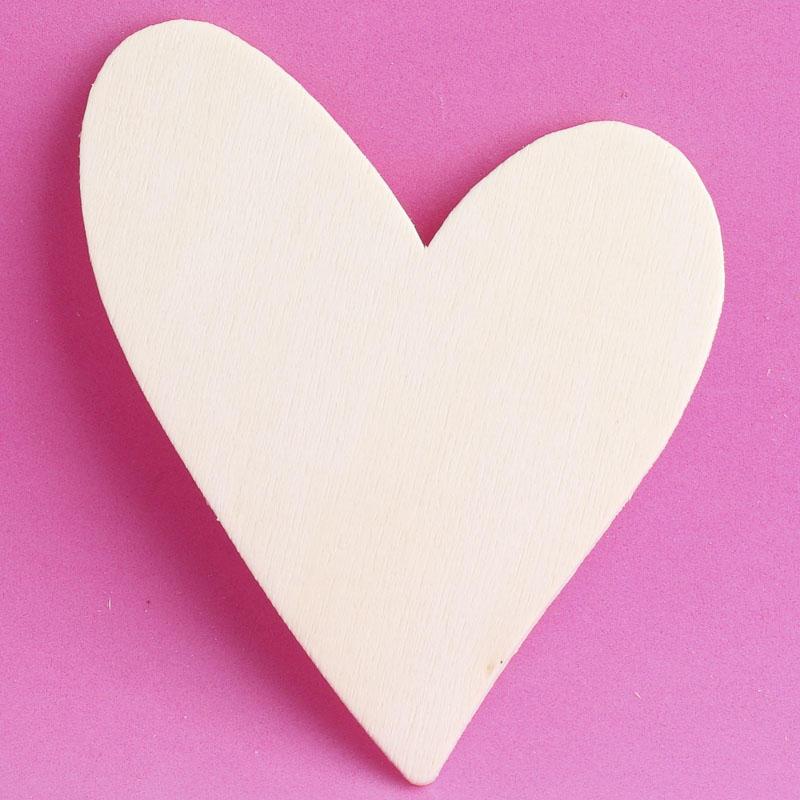 Unfinished Wood Heart Cutout Wood Cutouts Unfinished