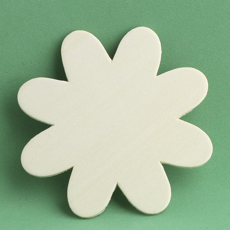 Unfinished wooden flower cutout wood cutouts for Wholesale wood craft cutouts