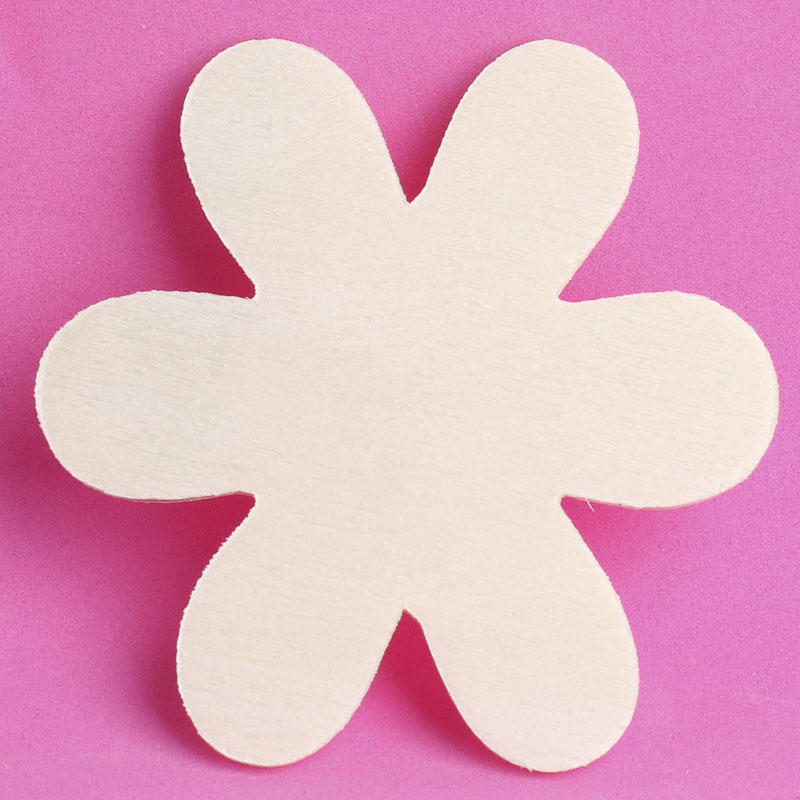 Unfinished wood flower cutout basic shape cutouts wood cutouts