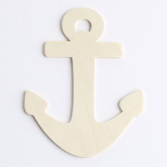 Unfinished Wood Anchor Cutout - Wood Cutouts - Wood Crafts - Hobby ...