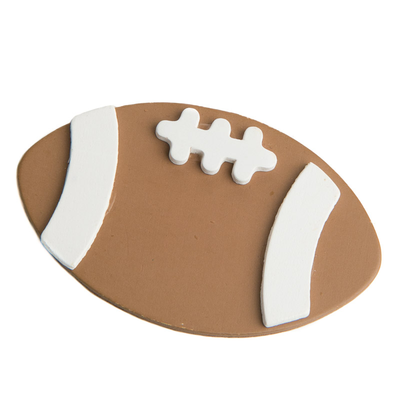 Painted Wooden Football Cutout Ready To Personalize