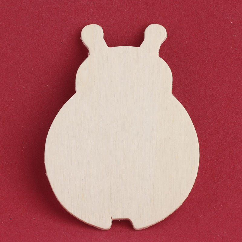 Unfinished wood ladybug cutout animal and pet cutouts for Wood cutouts for crafts