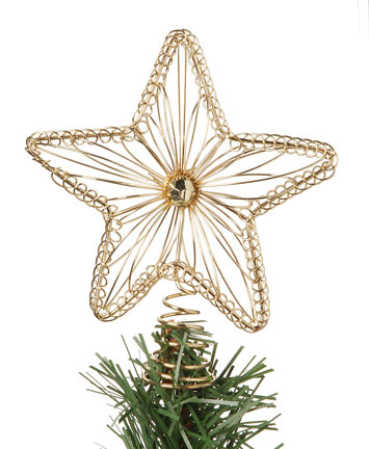 miniature gold wire star tree topper christmas miniatures christmas and winter holiday crafts. Black Bedroom Furniture Sets. Home Design Ideas