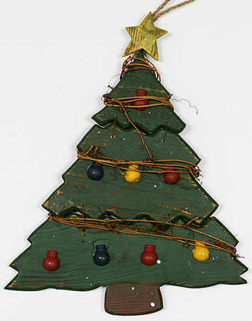 click here for a larger view - Rustic Wood Christmas Tree