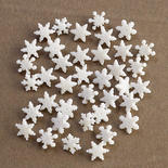 """Dress It Up Holiday Collection """"Itty Bitty Snowflakes"""" Button"""