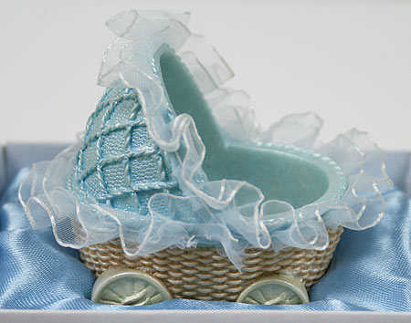 Baby Boy Carriage Basket Baby Shower Favor