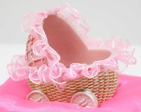 Baby Girl Carriage Basket Baby Shower Favor It S A Girl