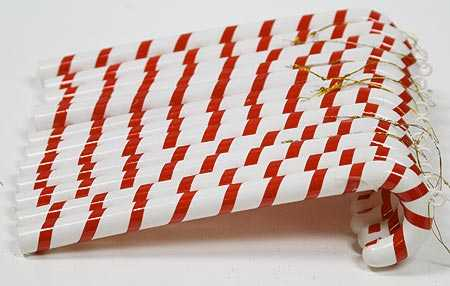 Plastic Candy Cane Decorations Plastic Candy Cane Ornaments with Hangers Pkg 60 Candy Canes 1