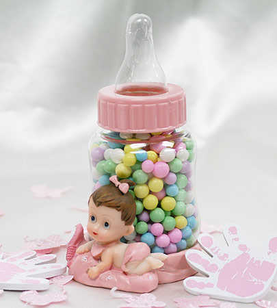baby girl bottle baby shower favor it 39 s a girl theme baby shower