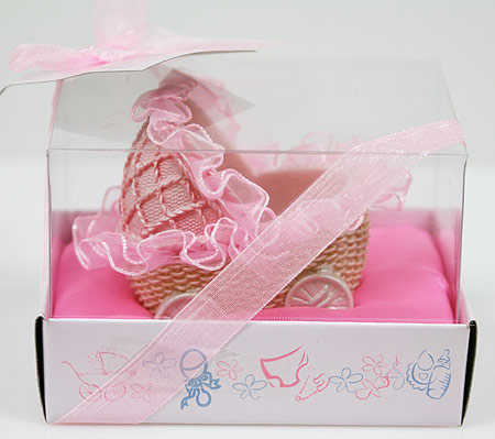 baby girl carriage basket baby shower favor