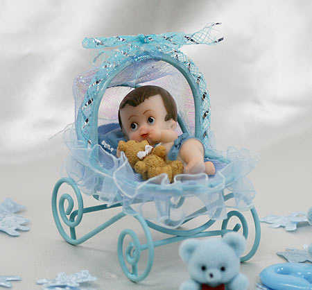Baby Boy In Carriage Basket Baby Shower Favor Its A Boy Theme