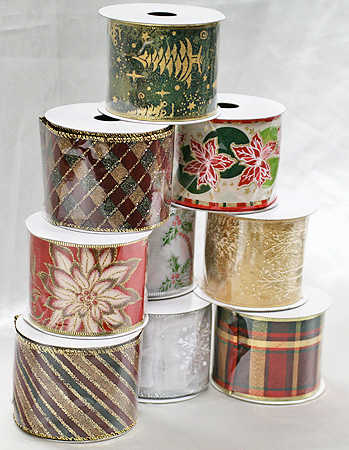item rx0623xmas christmas assorted wired ribbon - Wired Christmas Ribbon