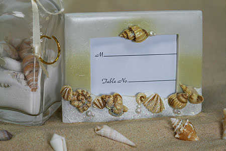 Seashell Wedding Guest Place Card Holder Frame Picture Frames Home Decor