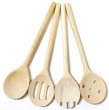 Wood Kitchen Spoons Mini Kitchen Utensils Kitchen And Bath Home Decor