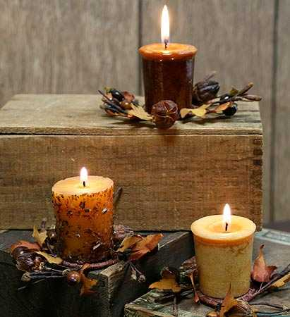 1 1 2 Quot Primitive Autumn Blessings Candle Ring Pip