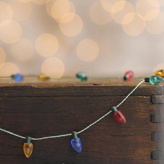 Miniature Christmas Light Bulb Garland - Doll Making ...
