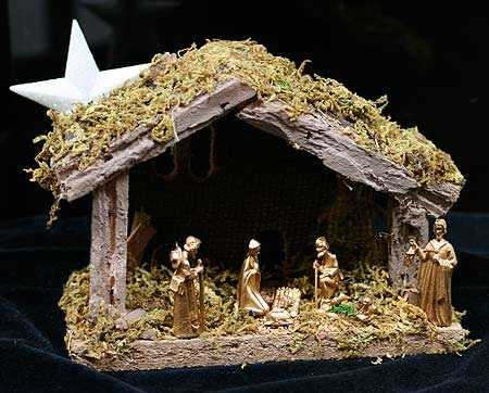 Miniature Golden Acrylic Nativity Set Doll Making