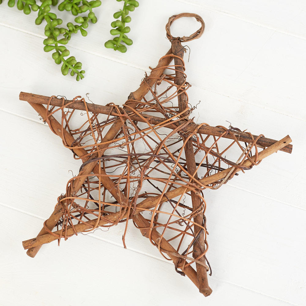 Natural grapevine twig star wall decor home decor for Twig decorations home