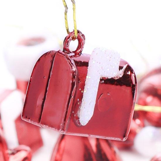 Winter Themed Christmas Decorations: Miniature Metallic Santa Themed Ornaments