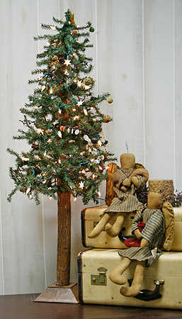 5 Foot Primitive Alpine Skinny Christmas Tree Trees And