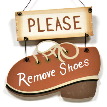 Quot Please Remove Shoes Quot Wood Sign Signs Amp Ornaments Home