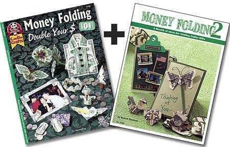 Set of 2 Money Folding Origami
