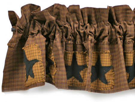Primitive Star Patchwork Valance Primitive Sale Sales