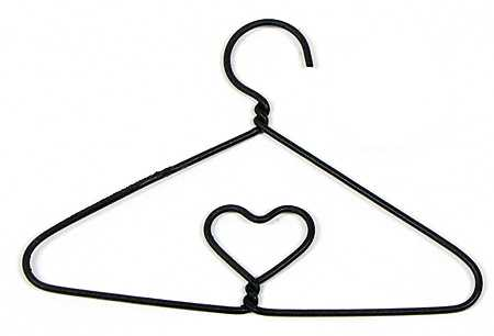 Black Miniature Wire Clothes Hanger - Doll Accessories - Doll Making ...
