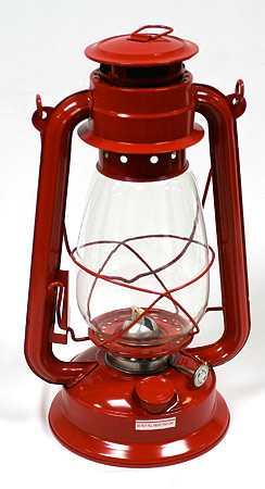 Red Metal Real Working Railroad Lantern Lighting Home