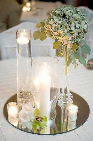Table Decoration Centrepiece Mirrors