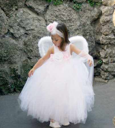 Flower girls wedding dresses for Angel wings wedding dress