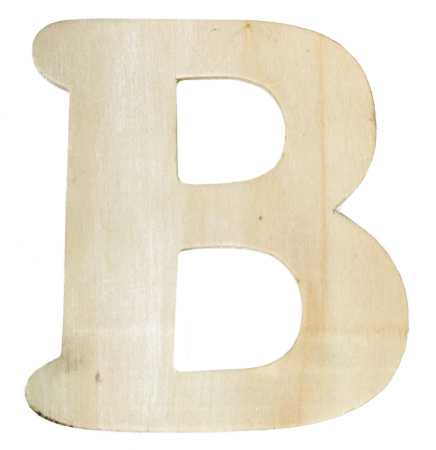"... Wooden Letter ""B"" - Word and Letter Cutouts - Unfinished Wood - Craft"