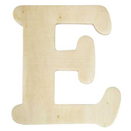 Unfinished wooden letter e word and letter cutouts for Wooden letters for crafts