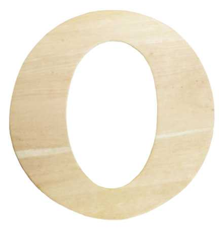 Unfinished Wooden Letter O