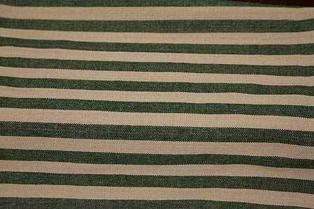 Hunter Green and Tea Dye Country Stripe Crafting Dish Towel Kitchen Towels
