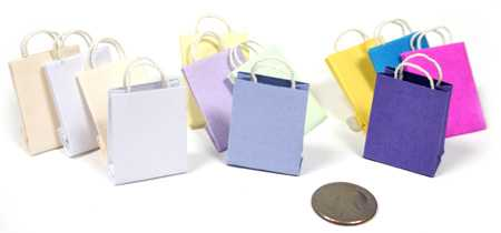 Happy Birthday Gift Bag Dollhouse Miniature