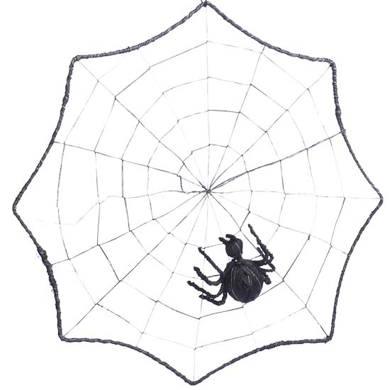 Black Spider Web Halloween Decoration Crows Owls Bats Spiders Fall
