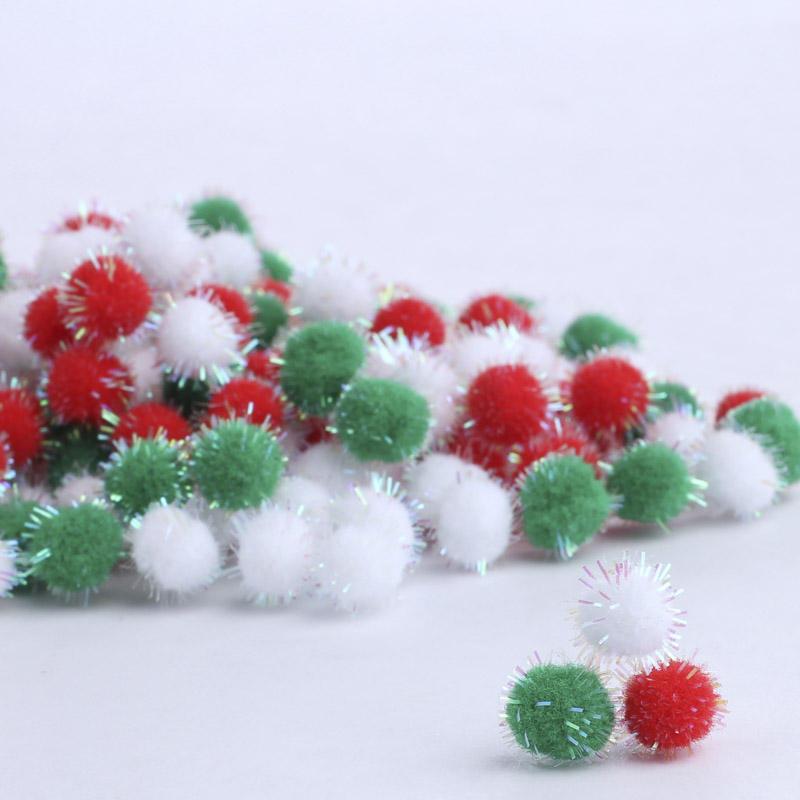 Iridescent tinsel christmas craft pom poms pom poms for Pom pom crafts
