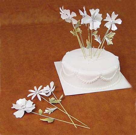 Wilton Metal Floral Picks Wedding Cake Topper Cake Toppers Cake