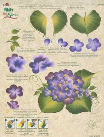 Donna Dewberry n////a Folk Art One Stroke Reusable Teaching Guide-Sunflower