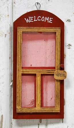 Old Fashioned Wooden Screen Door Primitive Sale Sales