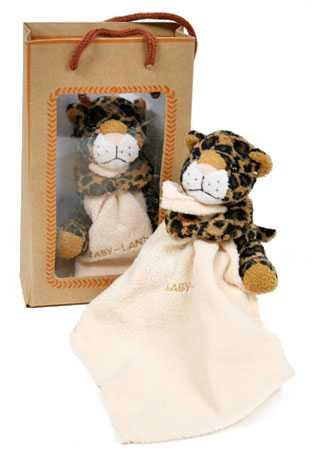 Stuffed Plush Baby Cheetah With Blanket