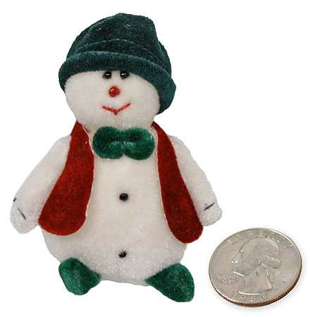 Mini Plush Snowman with Vest and Hat - Christmas Ornaments - Christmas ...
