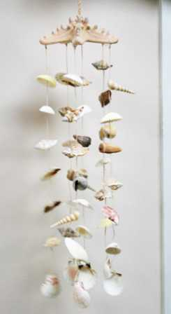Nautical Seashell Wind Chime Coastal Decor Home Decor