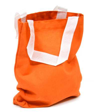 Package of 12 Bright Orange Canvas Tote Bags - Bags - Basic Craft ...