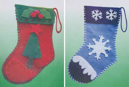 Holiday felt christmas stocking kit kids craft kits for Stocking crafts for toddlers